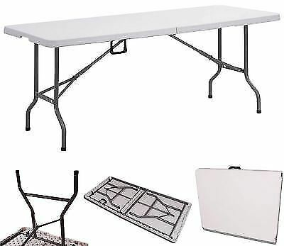 New 6Ft Folding Table Heavy Duty Camping Bbq Catering Trestle Garden Indoor Home