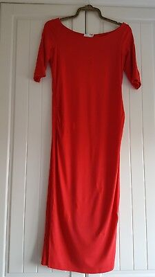 Red ASOS bodycon maternity dress size 8. Fits 8-10. Pefect dress for Christmas!