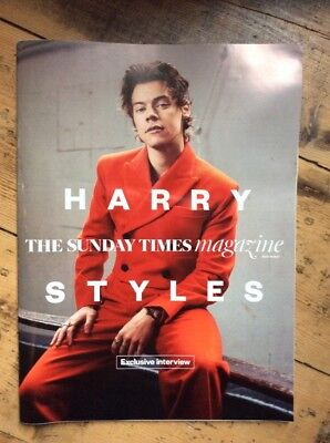 Harry Styles One Direction Solo Sunday Times Magazine Exclusive May 2017 Rare