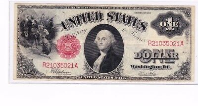 "1917 $1 Legal Tender Note ""Sawhorse"" Speelman/White FR39 R 21035021 A, nice"