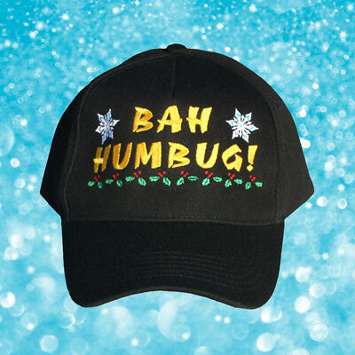 Bah Humbug! Christmas Baseball Cap - for the miserable Scrooge in your life!