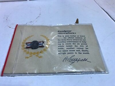 Goodyear Aircrafters Army Navy Award Outstanding Achievement Rubber Akron Ohio