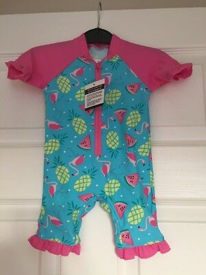 Baby Girls UV Sun Protection Swimsuit 3-6 Months Sunsafe Surfsuit NEW BNWT