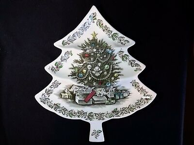 Johnson Brothers Merry Christmas Large 3 Part Relish Tree Serving Dish