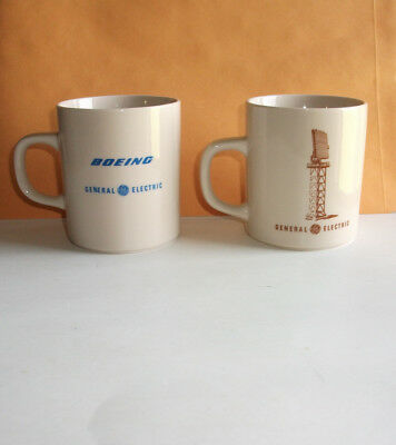 Estate Sale 2 - General Electric Advertising Coffee Cups Mugs Bac Peace Shield