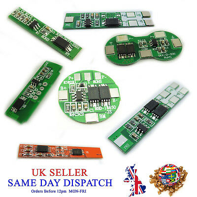 2 Cell PCB BMS 18650 Protection Board Li-ion Lithium Battery 2S 10A
