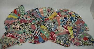 Huge Lot 153 Vintage 1930s Feedsack Dresden Plate Quilts Blocks Squares Pieces