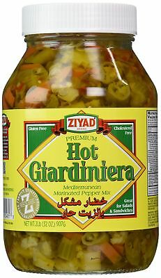 Ziyad Giardiniera Mediterranean Peppers Mix Hot 32 Ounce