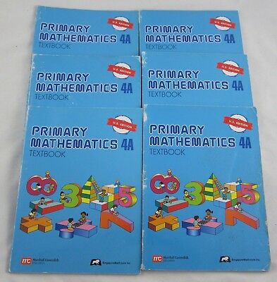 Singapore Primary Mathematics Textbook 4A US Edition Class Homeschool Lot of 6