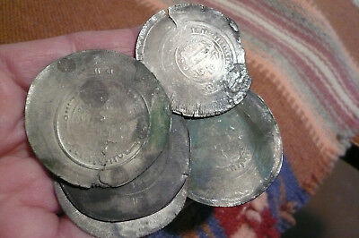 Five Islamic 1600s Silver (46mm)  coins
