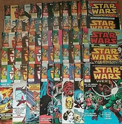 40 Star Wars Weekly British Marvel Comics from 1978
