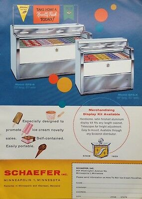 1961 Ad(H2)~Schaefer Co. Minneapolis,minn. Store Ice Cream Freezers