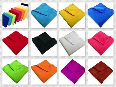 "24 Microfiber 12""x12"" Professional 300GSM Cleaning Detailing Polishing Cloth USA"