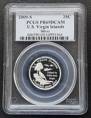 2009-S 25C US Virgin Islands Silver Proof Washington Quarter PCGS PR69DCAM Gem