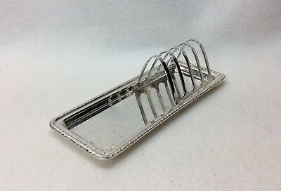 Vtg Cheltenham & Co, Ltd Sheffield England Silver Plated Toast Rack w/Tray