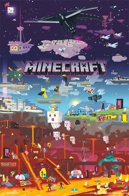 "Minecraft - World Beyond Video Game Post Wall Art by Trends 23"" x 34"""