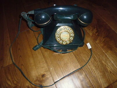 Green vintage telephone not working