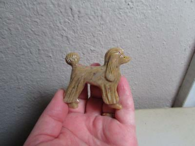 Poodle, Solid stone Hand carved from Andes, Standard Poodle Stone Dog Unique!