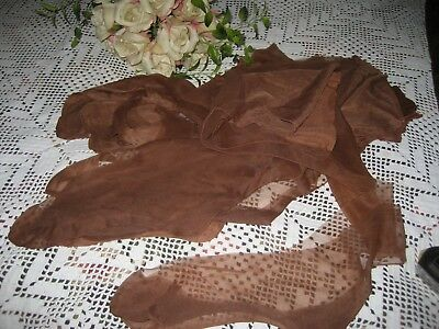 Vintage New Seamed Nylon Stockings Size 10 Red Fox  12  Pair In Lot Gorgeous
