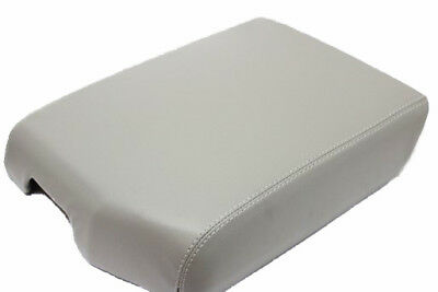 Synthetic Leather Center Console Lid Armrest Cover GRAY Fit 08-16 Toyota Sequoia