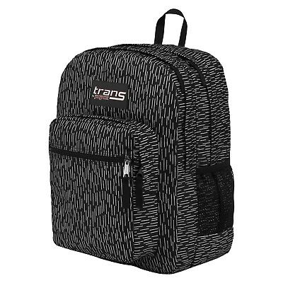 "Trans by JanSport 17"" SuperMax Backpack - Black Rain 51655957 - New"