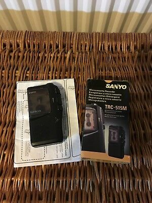 SANYO Microcassette Recorder - TRC -515M Boxed - Tested Working