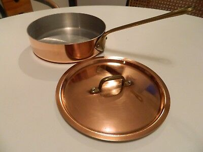 French Lidded Copper Saute Pan