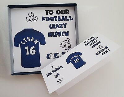 Personalised Birthday Card Chelsea Football Rugby Nephew Grandson Son ANY TEAM