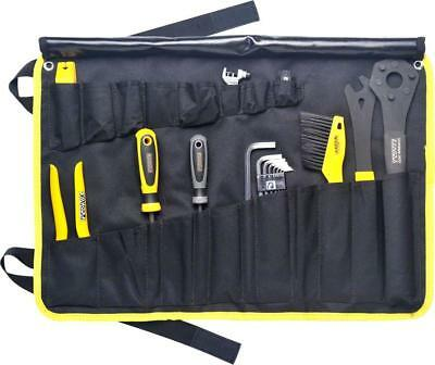 Pedro's Starter Tool Kit Including 19 Tools And Tool Wrap, Black