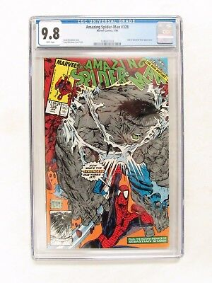 Amazing Spider-Man #328 (1990) CGC 9.8 White Pages Todd McFarlane Hulk CM125