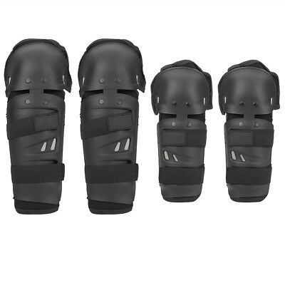 4x Motorcycle Elbow Knee Pads Motocross Cycling Shin Guard Armor Protective Gear