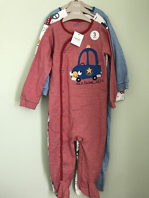 NWT Next 3 Pack Sleep suits Baby Grow 1.5-2yr 18-24 Months New