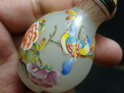 Exquisite Chinese enamel glass Snuff bottle             5