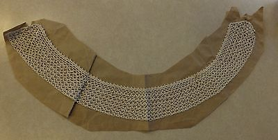 "Vintage Ladies Handmade Crocheted Collar 16"" Long 1.75"" Wide Crochet"