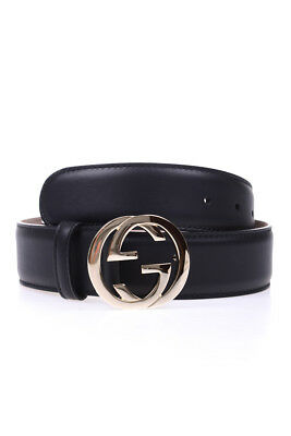 Cintura Gucci Belt % MADE IN ITALY Pelle Donna Nero 370543AP00G-1000