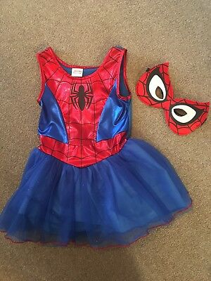 Girls 3-4 Years Spider-Man Sparkle Tutu Costume Worn Once Immaculate