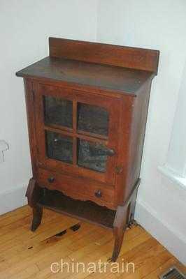 Antique 1800s Farmhouse Glass Door Dining Room Cabinet John Hayes Warren Ohio