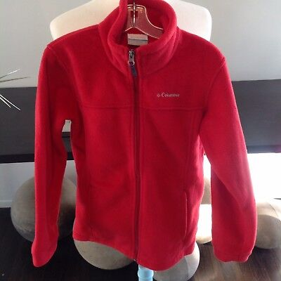 Columbia Youth Fleece Jackets 1 Red 1 Violet Sz M (10-12)