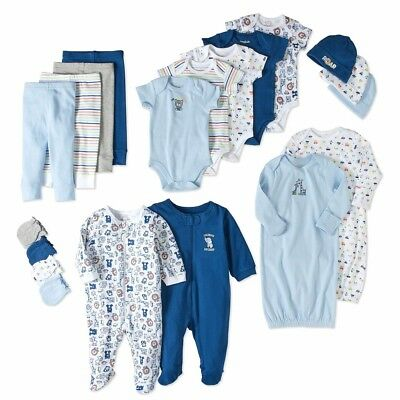 20 Piece Newborn Baby Boy Layette Clothes Set 3-6 Months Outfit Shower Gift