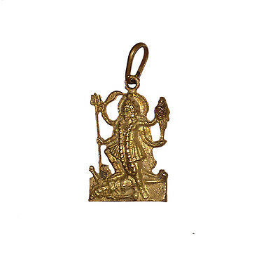 A RARE Lovely Brass made Pendant Amulet Goddess KALI for good luck from India