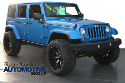 2016 Jeep Wrangler  2016 JEEP WRANGLER UNLIMITED RUBICON LEATHER AUTO CUSTOM LIFT-WHEELS-TIRES