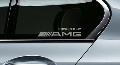 2x Powered by AMG Mercedes decal sticker