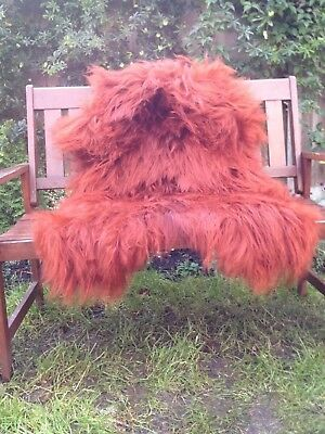 Real icelandic sheepskin rug colour red/dyed/XXL135-90cm