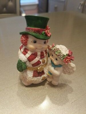 Christmas Dreamsicles Jolly Snowman hinged collectible