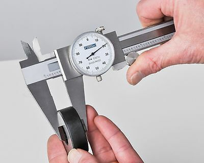 """Fowler 0-8"""" BRAND NEW Stainless Steel Shockproof Dial Caliper Mfr. # 52-008-708"""
