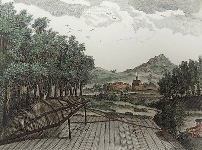 1793 Panckoucke - HUNTING TRAP AGRICULTURE hand colored FOLIO original