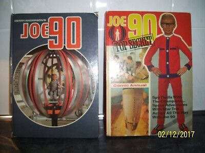 2 Gerry Anderson Joe 90 Tv Show Vintage Comic Annuals From 1968 And 1969