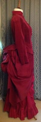 Ladies Victorian Costume, Late Bustle Era, 1880s Gown Made To Measure. Steampunk