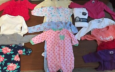 Baby Girl Winter Clothes Lot of 28 pcs, 3-6 months, Jackets, Outfits, Sleepers
