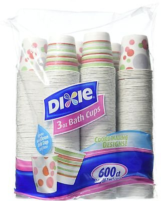 Dixie Bath Cups Coordinating Designs, 3 Ounce Each Cup (600 Count)